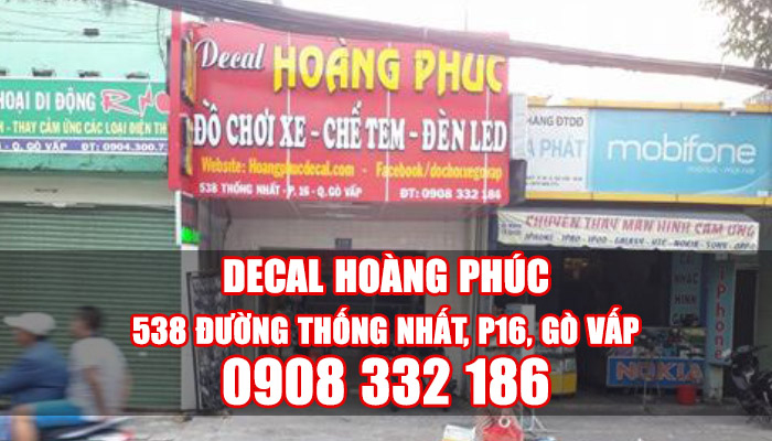 Cửa hàng dán keo xe máy ở Gò Vấp TPCM