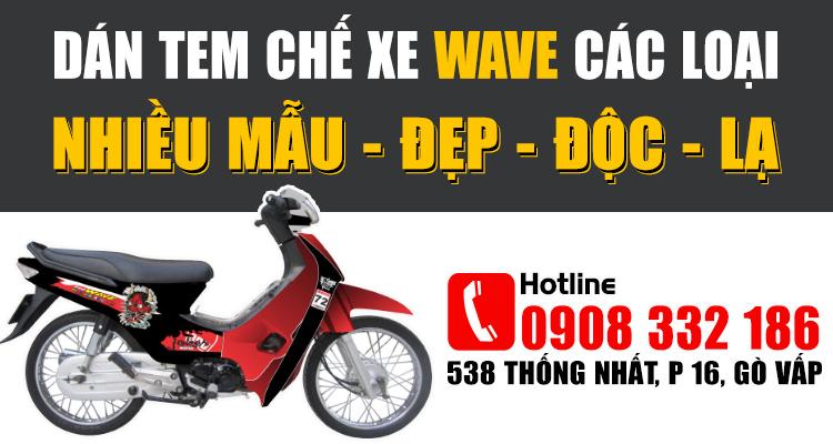 Cửa hàng dán tem chế xe wave ở tphcm