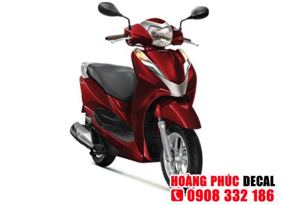 Dịch vụ dán keo xe, dán decal xe máy LEAD 2018 - Đỏ